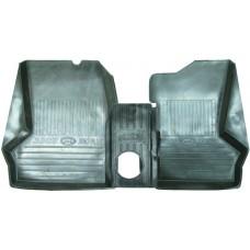 Коврики салона резиновые комплект ГАЗ-3302 3 шт.с перемычкой