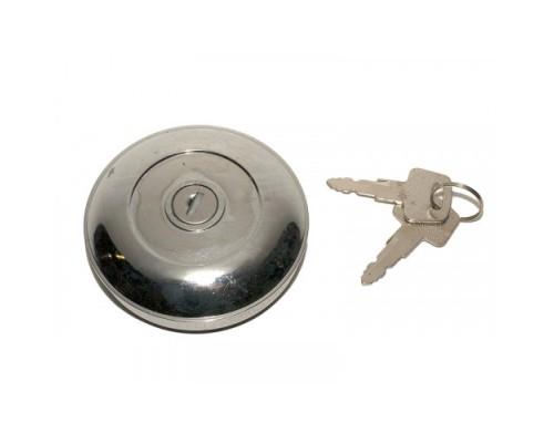 Крышка бензобака с ключом ГАЗ-31029,3302  металл без резьбы  хром