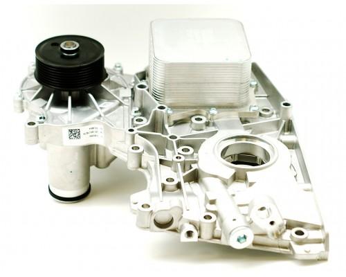 Крышка двигателя передняя ГАЗ ДВС Камминз с масл.насосом Е-4