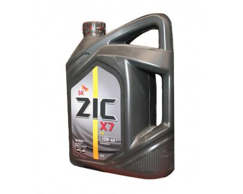 Масло моторное ZIC X7 синтетика дизель 10W-40  6 л