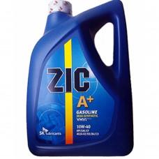 Масло моторное ZIC А+ синтетика SAE10W-40 SM/CF 6 л