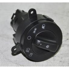 Переключатель света центральный ГАЗ-3302 н/о черный завод