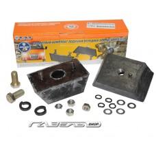Подушка двигателя ГАЗ-3102,3302 к-т 2 шт. завод с креплением