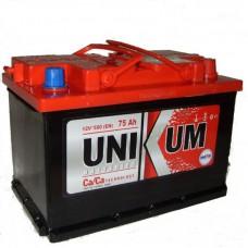 Аккумуляторная батарея UNIKUM 6CT-75 1000 R