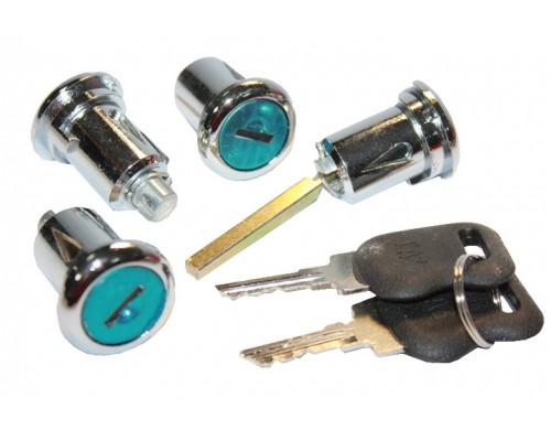 Замки дверей с ключами ГАЗ-2705 4 шт. нового образца