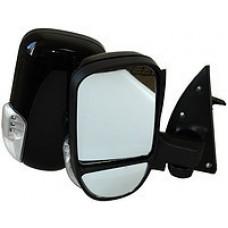 Зеркала ГАЗ-3302 ручной привод,без обогрев повтор. Черный глянец